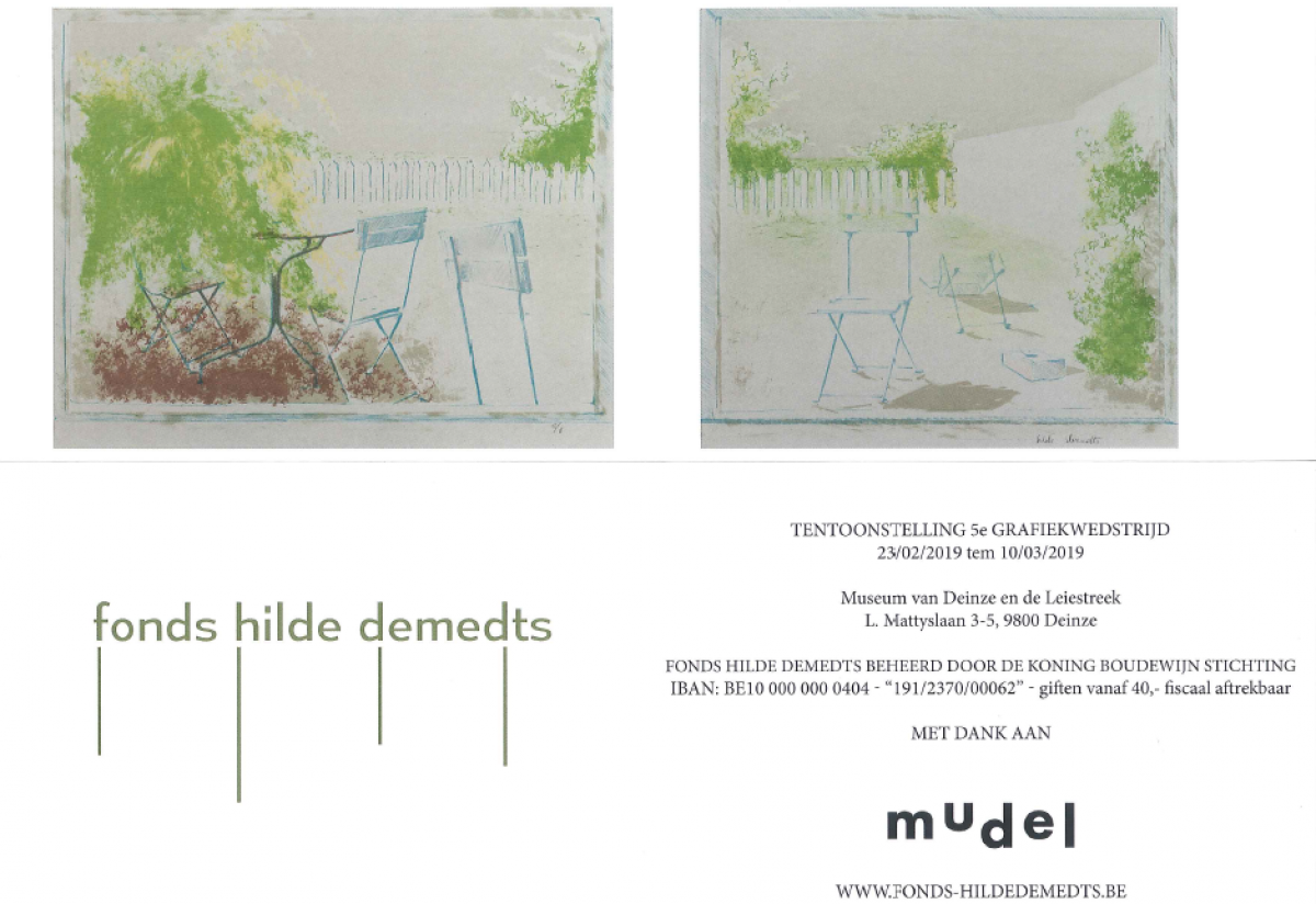 Group Exhibition: 'Printmaking Competition' by the Foundation of Hilde Demedts @ the mudel, Museum of Modern Art / Deinze (BE)