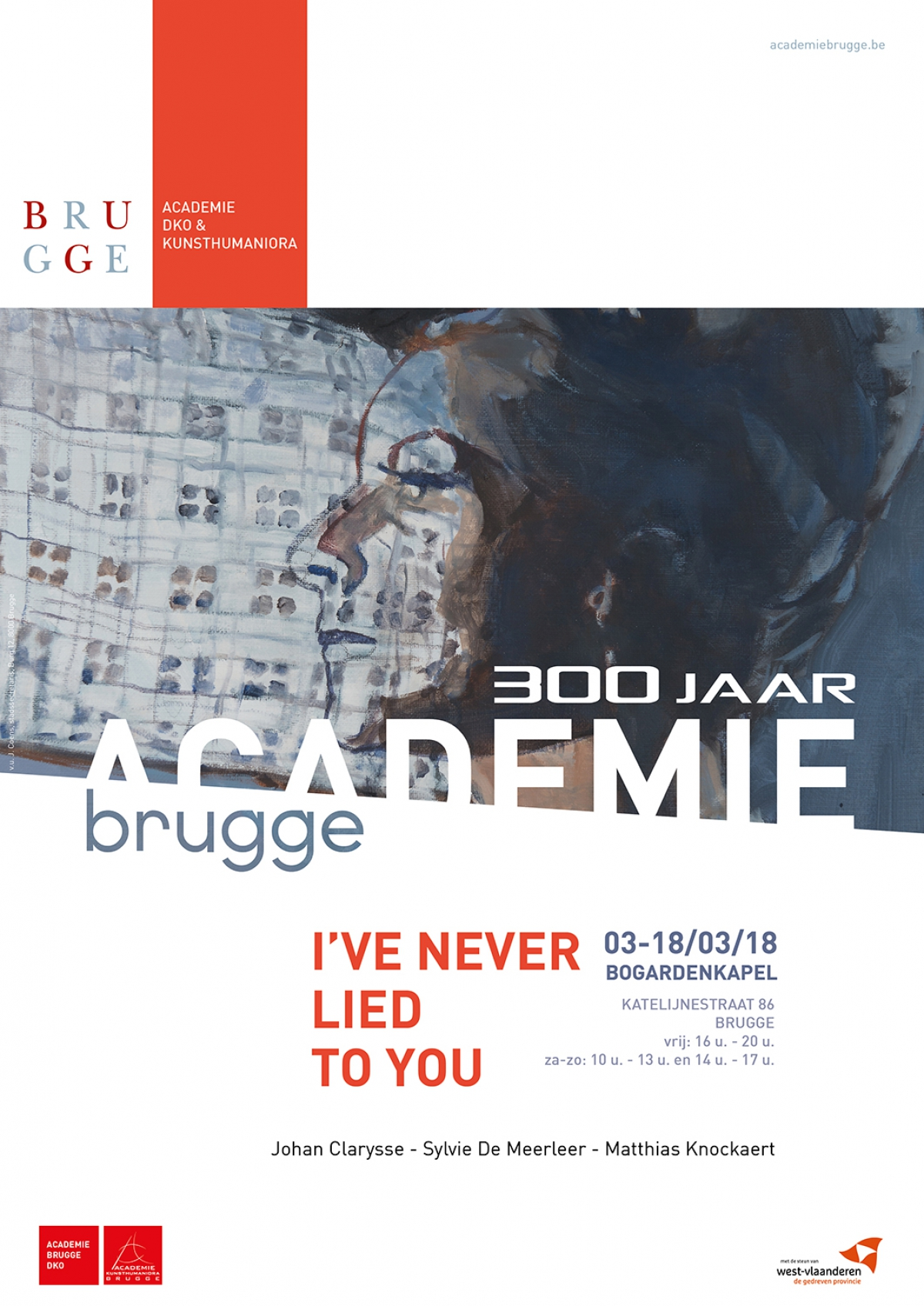 'I've never lied to you' - Johan Clarysse, Sylvie De Meerleer and Matthias Knockaert exhibit at the Bogarden Chapel in Bruges (BE)