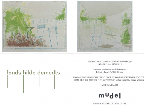 Group Exhibition: 'Printmaking Competition' by the Foundation of Hilde Demedts @ the mudel / Deinze (BE)